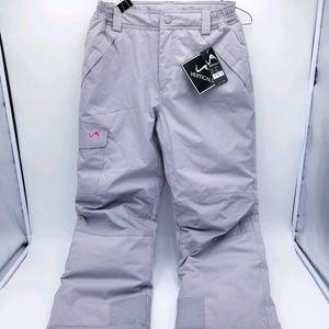 Vertical 9 Snow Ski Pants Girls Medium Grey NWT